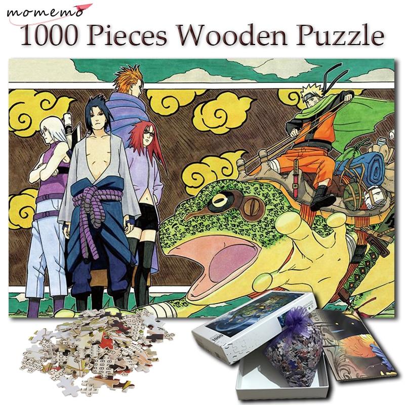 MOMEMO, rompecabezas de 1000 piezas, dibujos animados de Naruto, juguetes de madera, rompecabezas de Anime para adultos, rompecabezas de 1000 piezas, juegos para niños, juguetes para niños