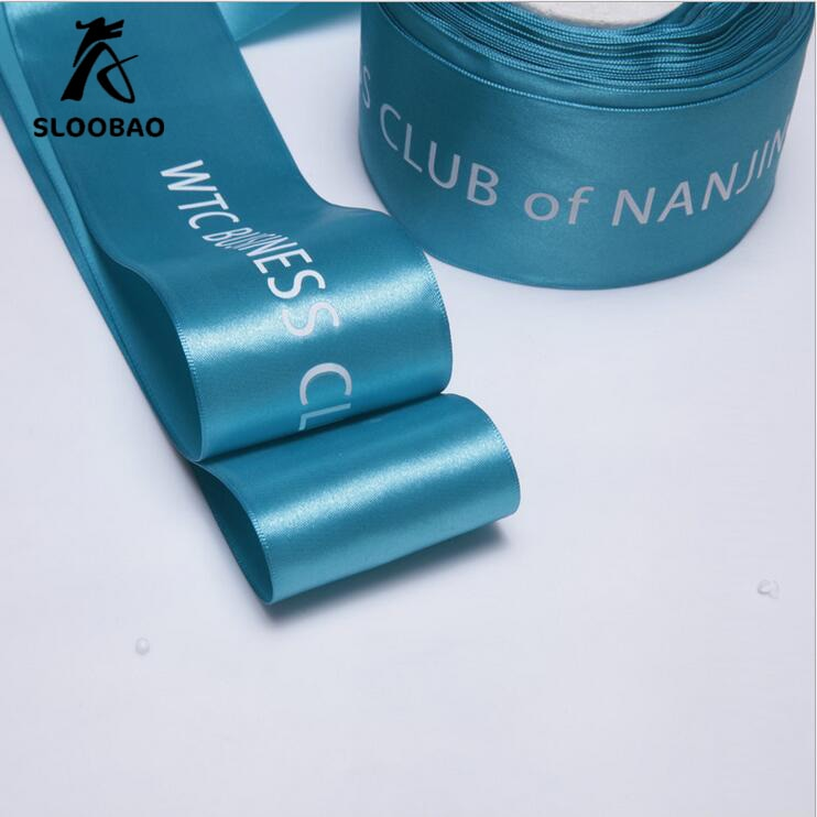 Logotipo personalizado diy da fita do cetim weddind & embalagem e casamento personaliza logotipo personalizado fita/embalagem do presente venda por rolo