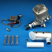 dle61 61cc engine for gas rc airplane w exhaust ignition 6hp7500rpm 1400 rpmm