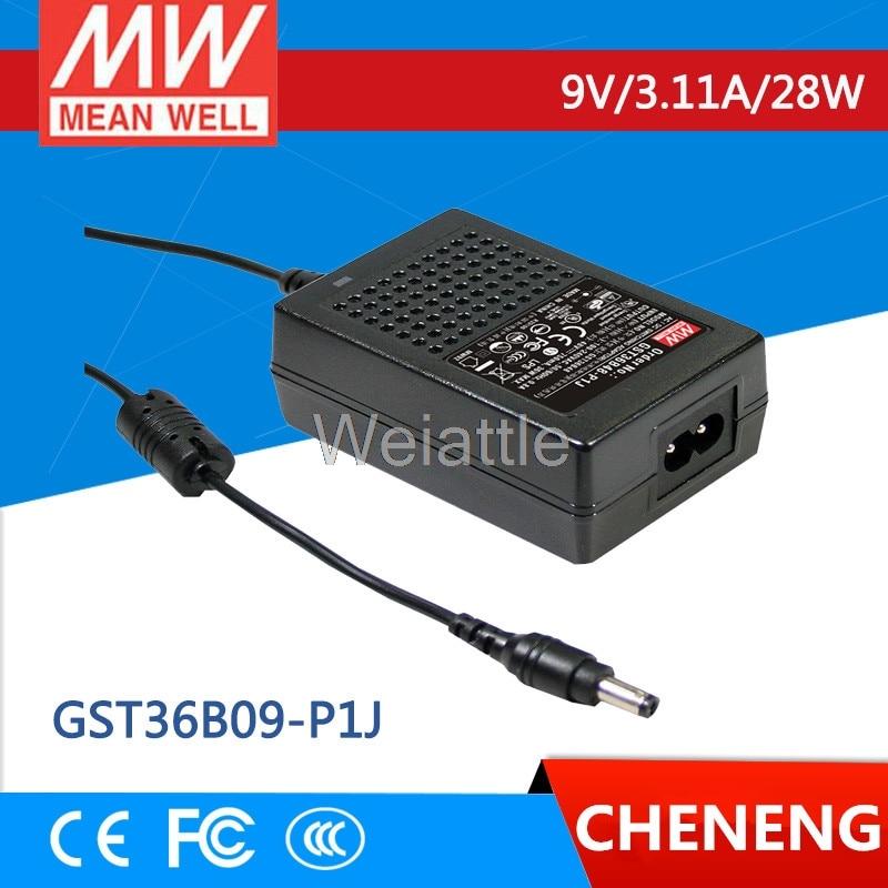 يعني حسنا الأصلي GST36B09-P1J 9V 3.11A meanwell GST36B 9V 28W AC-DC عالية الموثوقية الصناعية محول