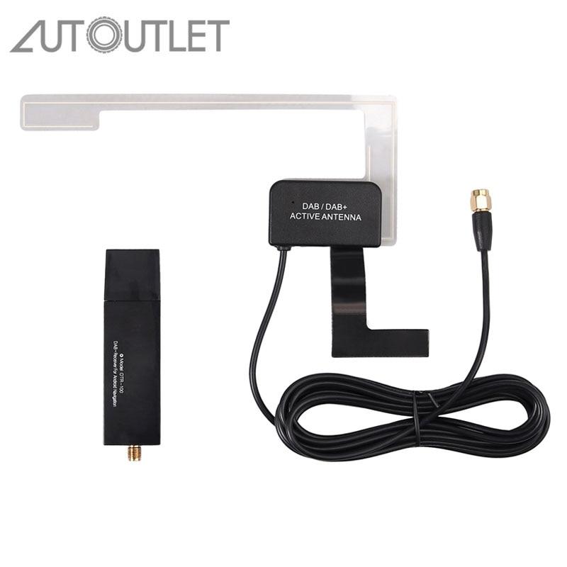 Autotoma para USB 2,0 DAB + receptor sintonizador disco antena adaptador STICK para ANDROID AUTORADIO Coche