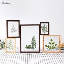 SUFEILE-cadre de photo bricolage   Cadre de photo créatif HD double face, cadre de photo en verre pour décoration de maison, cadre de photo plante D50