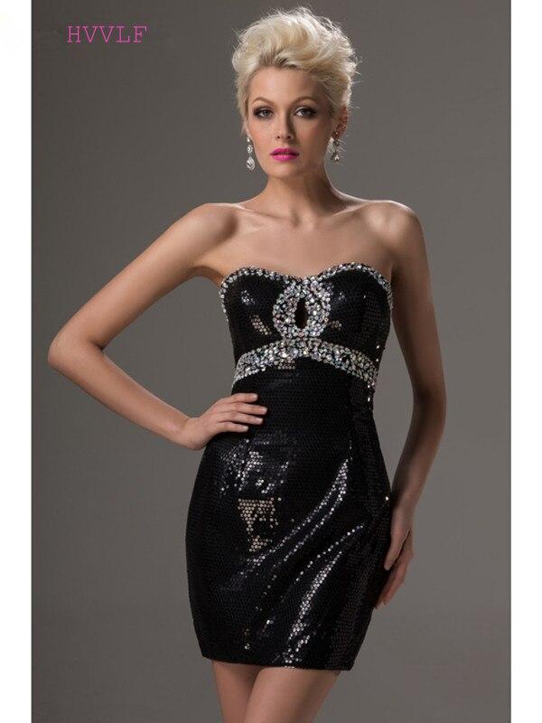 فستان كوكتيل أسود مع ترتر ، فستان قصير بحزام ، ظهر مكشوف ، فستان حفلات ، مقاس كبير