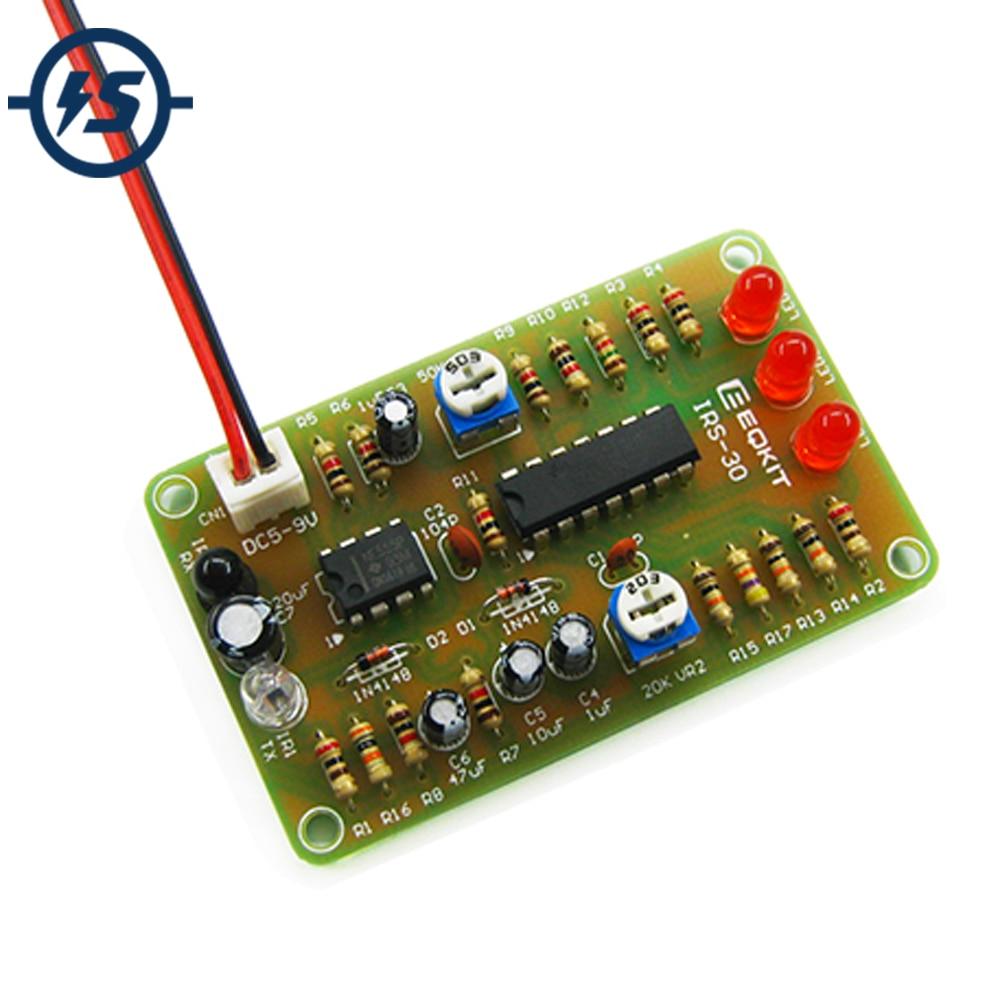 Kit DIY de Sensor de Radar con indicador de marcha atrás infrarroja de IRS-30, módulo de detección de rango infrarrojo ajustable para evitar obstáculos de alta sensibilidad