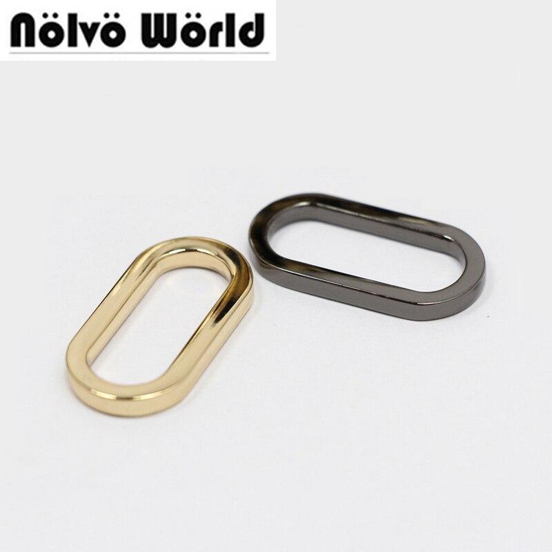 Овальное кольцо с квадратным краем, 1 дюйм, сплав, лента для ремня, ошейник, рюкзак, сумка, аксессуары, 30 шт.