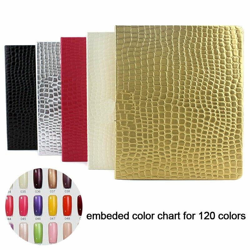 120/160/216 Tips Nail Color Chart Nail Display Book Card UV Gel Polish Manicure Practice Show Case Books Gel Polish Nail Art