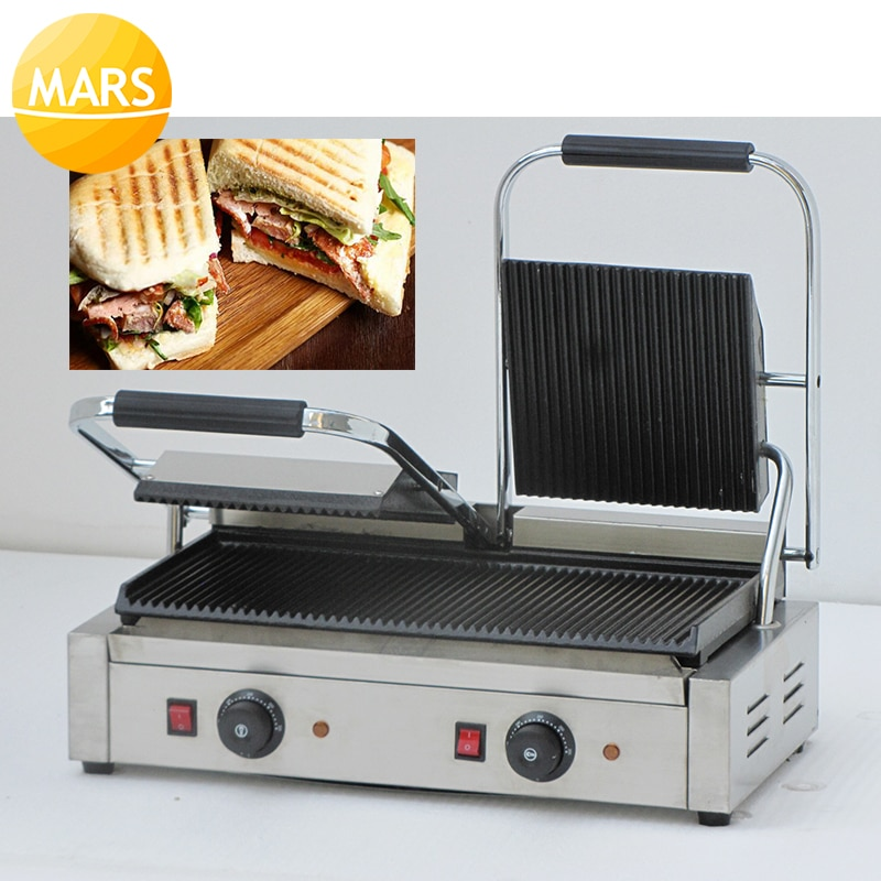 Doppel Panini Presse Maschine Kommerziellen Panini Sandwich Maker; Panini Sandwich Presse; Kontaktieren Grill Sandwich Griller