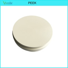 PEEK Material Partial Denture Frameworks 98mm White Color