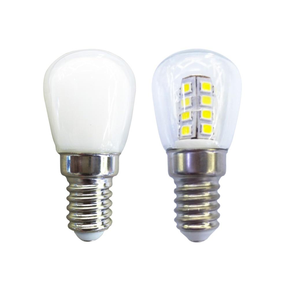 Светодиодная лампа E14, 3 Вт, с теплым/холодным белым светом, водонепроницаемая светодиодная энергосберегающая лампа для холодильника, микро...