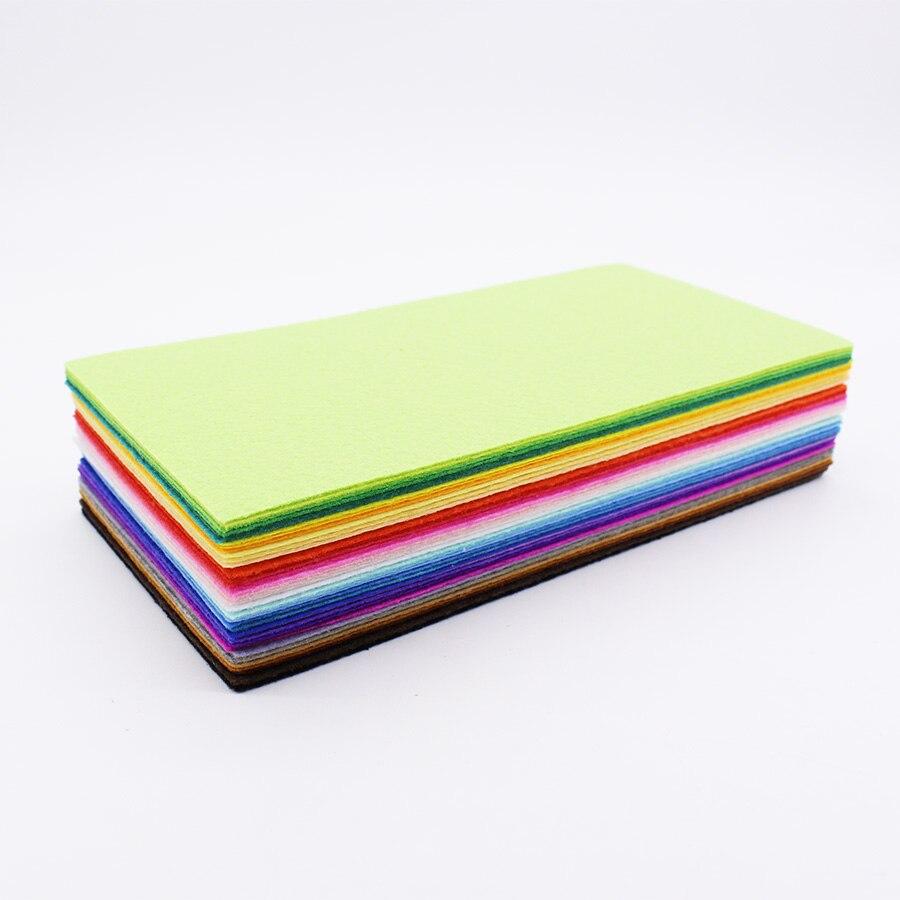 CMCYILING 40 unids/lote 20*10cm parche de patchwork tela de 1 MM de espesor de poliéster para DIY álbum de recortes artesanal hoja de fieltro