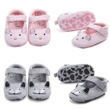 USA Toddler Yenidoğan Bebek Kız Yumuşak Beşik Ayakkabı kaymaz Pram Prewalker Sandalet