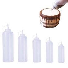 Accesorios de cocina dispensador de botellas de compresión de plástico 8oz para salsa aceite vinagre Ketchup herramientas de cocina 180ml 270ml 390ml 720ml