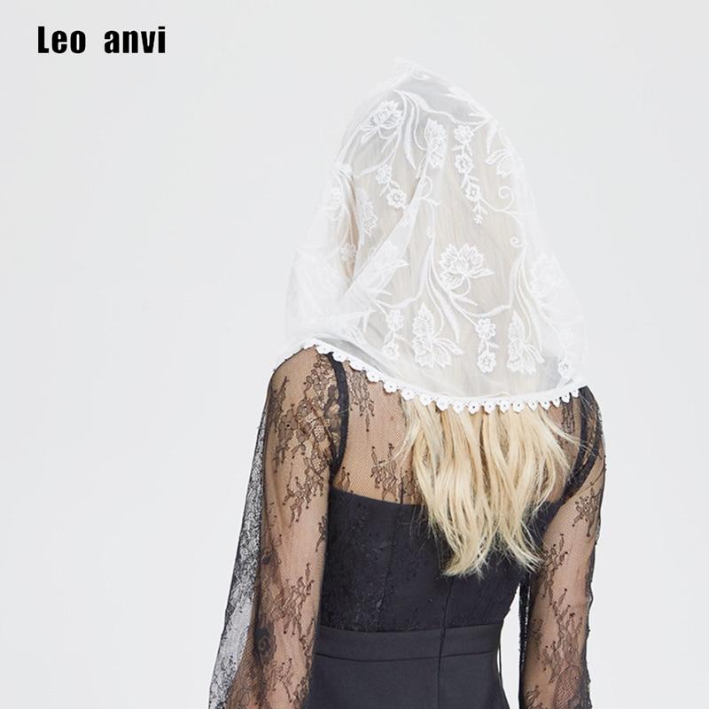 Кружевной Шарф Leo anvi, белая капелла, veil, с вуалью, для Латинской мессы