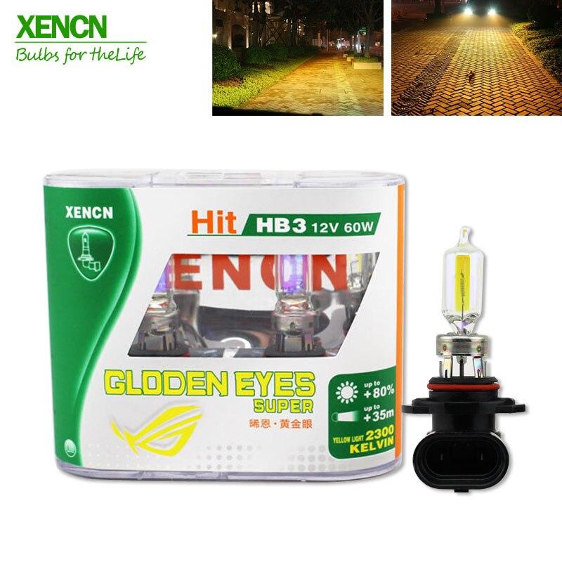 XENCN HB3 9005 12V 60W 2300K Olhos Dourados Automotive Farol Do Carro Estacionamento Alemanha Qualidade All Season Super luz amarela 2pcs