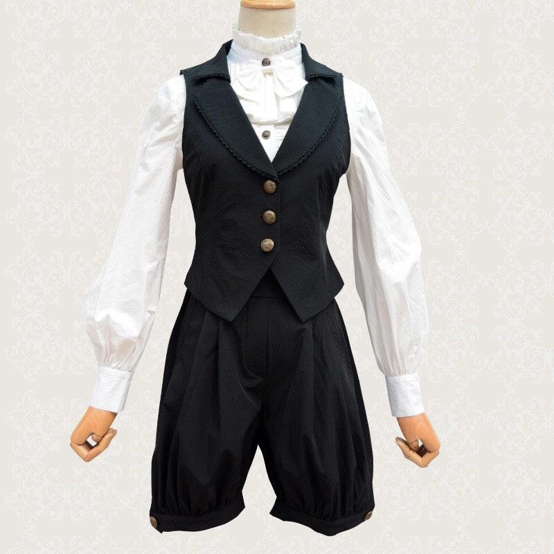 Preppy meninas gay lolita colete jumper hosen calças curtas estudante cosplay homossexual punk outfit ouji roupas para mulher