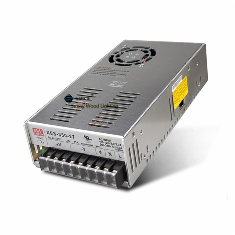 100-240vac a 27vdc, 351w, 27v13a ul alistado fonte de alimentação, luz led, motorista de placa de sinalização led, NES-350-27
