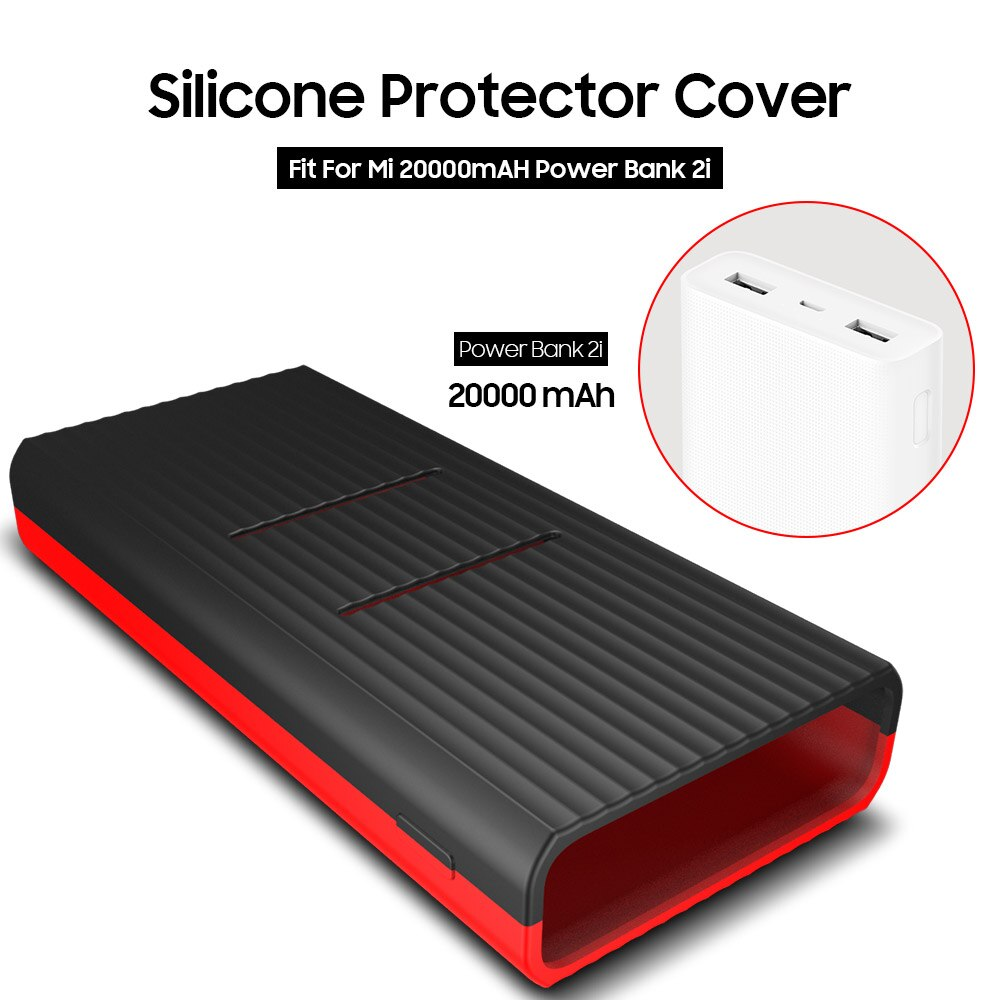 AWINNER Silicone Protector Case Cover Skin Shell for Xiaomi Xiao Mi Xiaomi 20000mAh Power Bank 2C PL