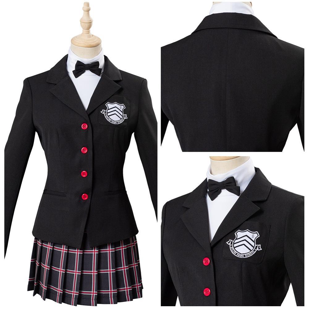Persona 5 The Royal Yoshizawa Kasumi School Uniform Cosplay Costume Halloween Carnival For Female Girls