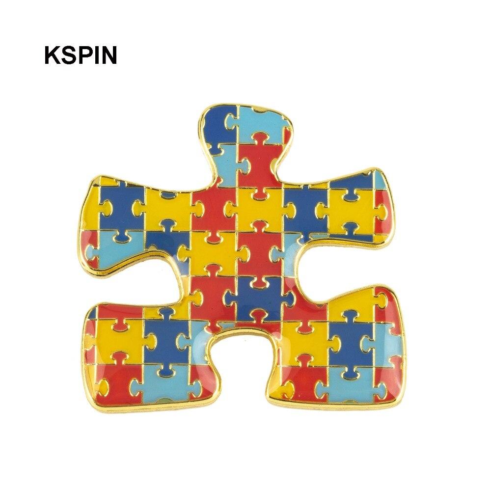Pinos de pino de lapela do emblema do autismo xy0340