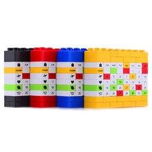 Nouveauté briques bricolage perpétuel Puzzle anniversaire calendrier 4 couleurs pour créatif noël/nouvel an/cadeau danniversaire