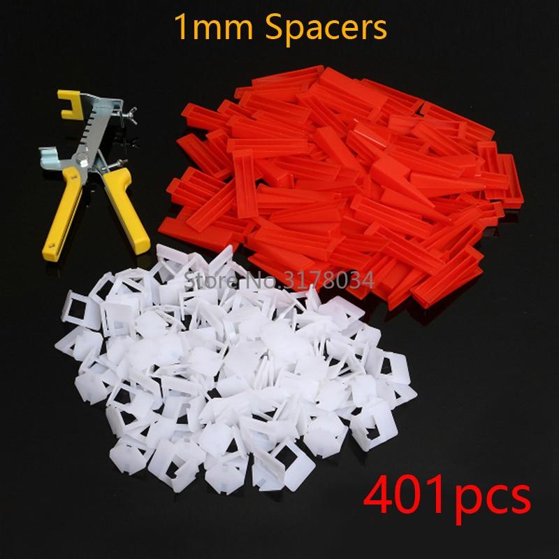 Инструменты для выравнивания плитки, 401 шт., инструменты для выравнивания плитки, 300 шт., 100 шт., клинья, плоскогубцы, 1 мм