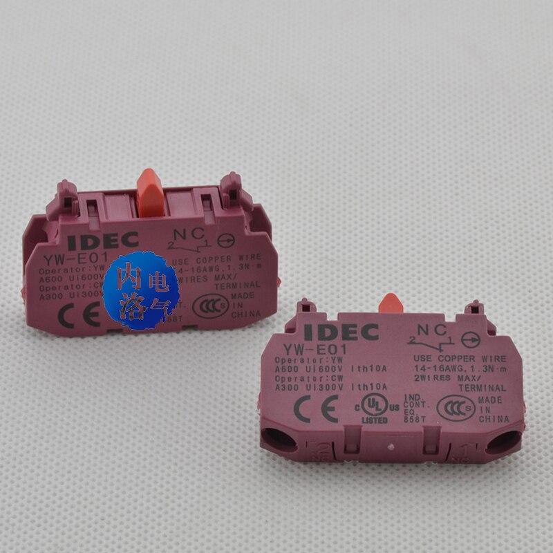 [SA] الأصلي أصيلة! اليابان والربيع IDEC 22 مللي متر YW سلسلة عادة مغلقة الاتصال YW-E01 1NC-20 قطعة/الوحدة