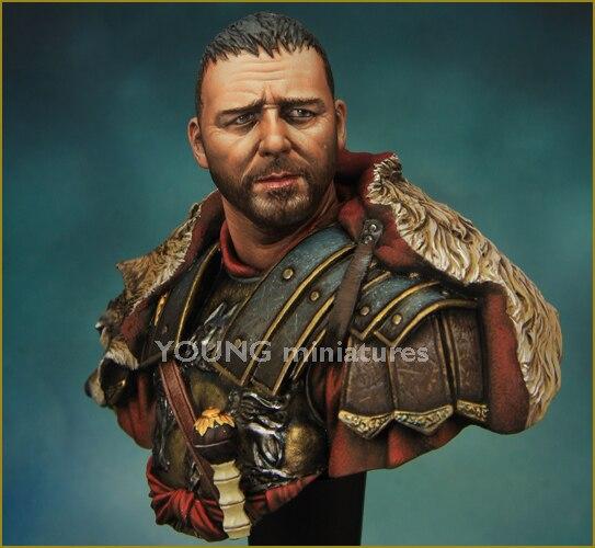 DIY 1/10 busto Kit de modelo de figura de resina personaje película rol Wars Roma General X06