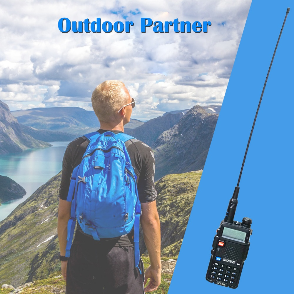 Baofeng NA-771 Gain D'antenne NA771 Antenne Talkie-walkie SMA-F 39cm UHF VHF Signal Étendre Amplificateur pour UV-5R BF-888S UV-82