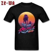 Man T-shirts Galaxy Paradise Tshirt Star Wars T Shirt Mens Hip Hop Tee Space Waporwave At At X Tops Cotton Clothes Slim Fit