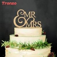 tronzo mr mrs wooden wedding cake topper lovely wood table cake decor bride broom cake topper wedding decorations