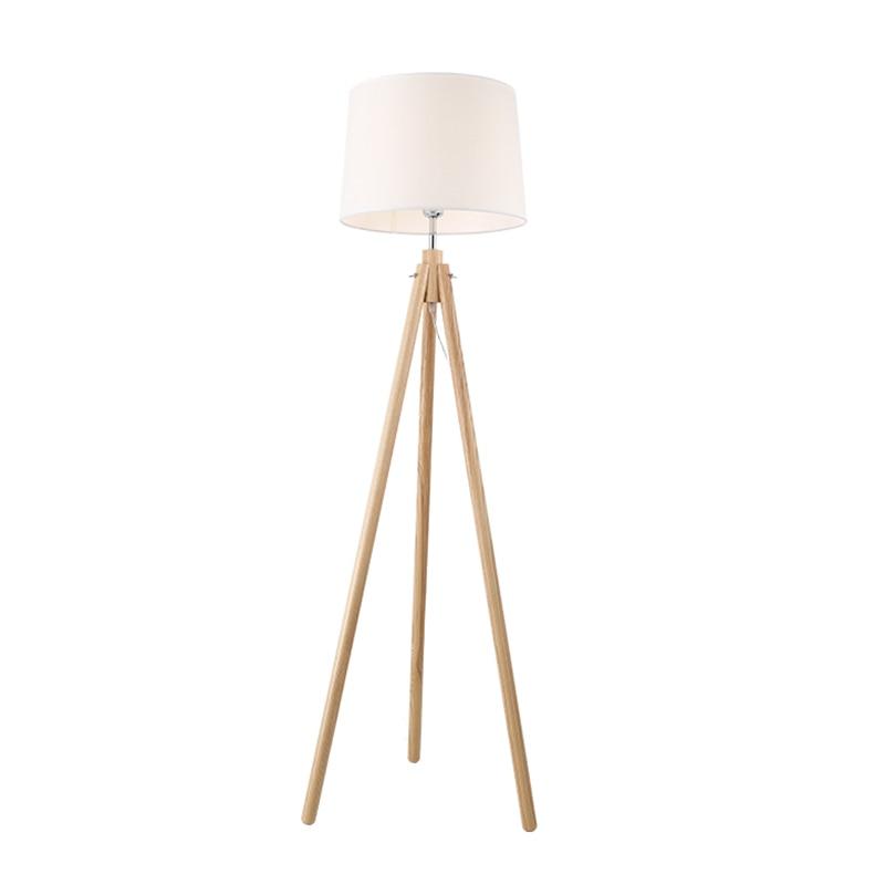 Modern Minimalist Wood Tripod Floor Lamp simple life Fabric Shade Creative Floor Light For Living Room Study Lighting Fixture
