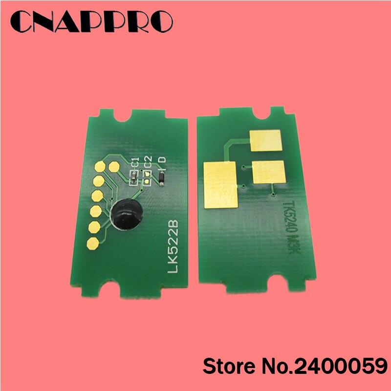 1 set/lotto TK5222 TK-5222 toner ripristinato il circuito integrato per Kyocera Mita ECOSYS P5021cdn P5021cdw M5521cdn M5521cdw P5021 M5521 5021 5521 chip