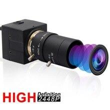 SONY IMX179-Webcam USB CCTV   Objectif varifocale 5-50mm, 8 mégapixels haute définition, Mini HD, caméra industrielle 8 mp pour PC portable