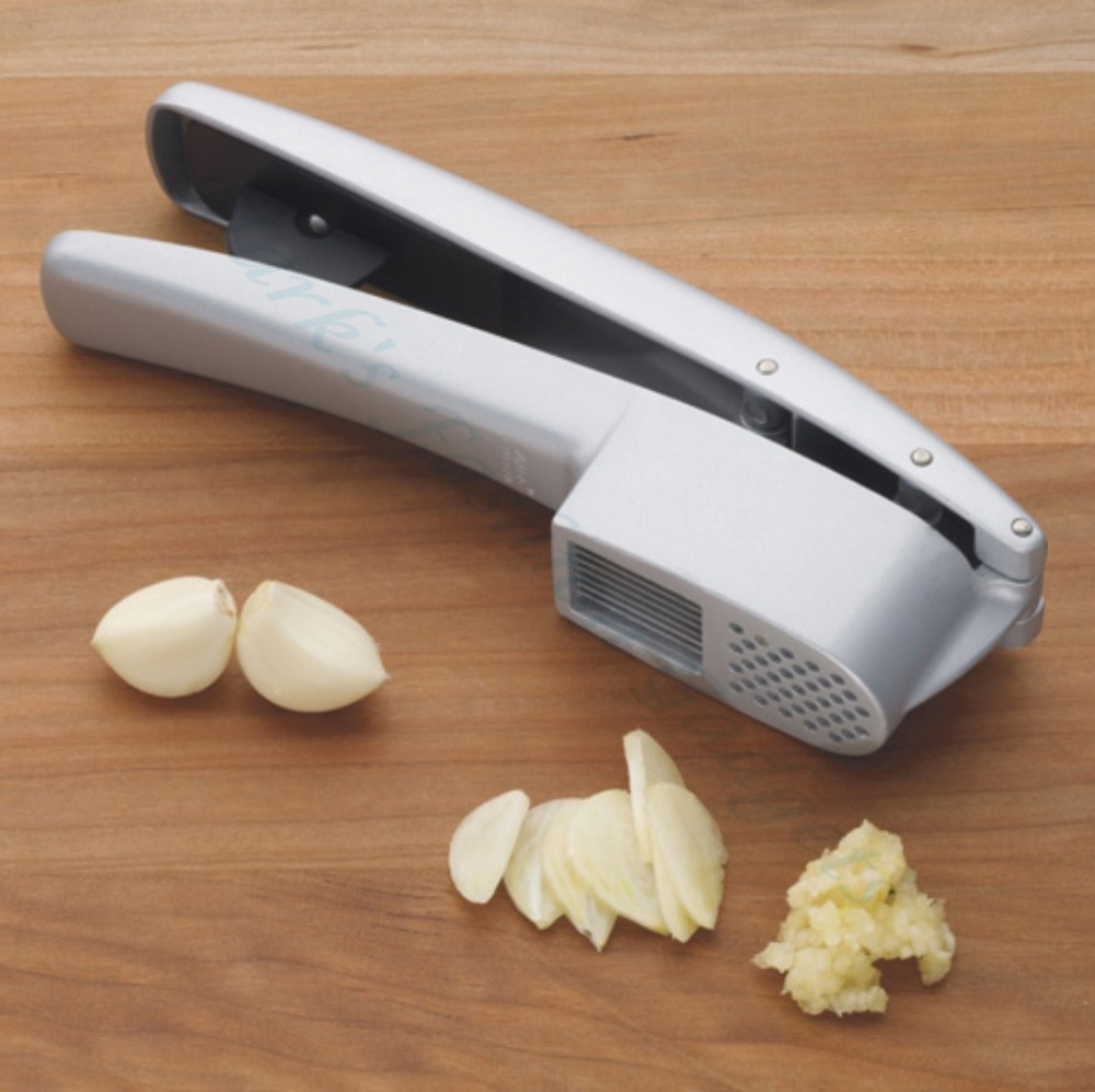 جديد Cocina 2 في 1 هراسة الثوم والتقطيع يموت يلقي غير عصا طلاء أدوات المطبخ الزنجبيل كسارة مقشرة Garlics المروحية ريكر