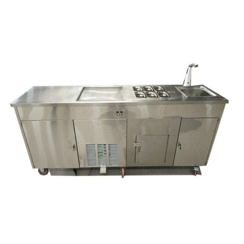 Con máquina de rollo de helado frito CE, máquina para hacer helado frito, precio a la venta
