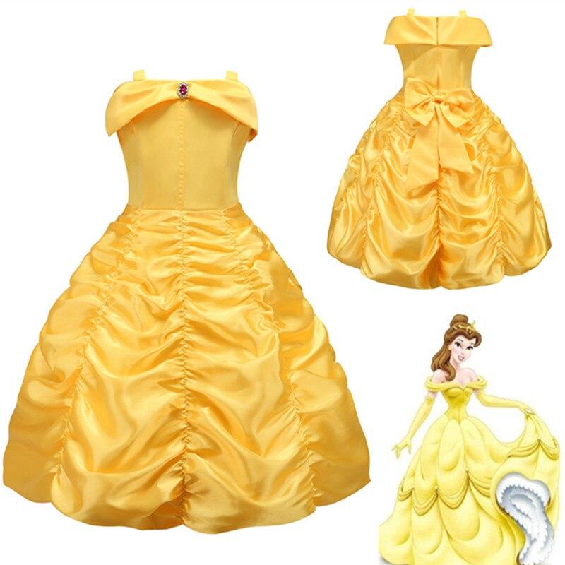 Disfraces de Halloween para niños y niñas, vestido de princesa Bella, disfraz de Belle La Bella y La Bestia, disfraz de fiesta de lujo para niños y bebés