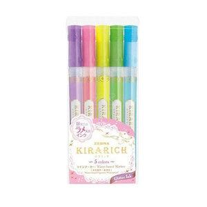 Japan Zebra KIRARICH Shiny Pearl Pen 3/5 Colors Set WKS18 color Highlighter Pen