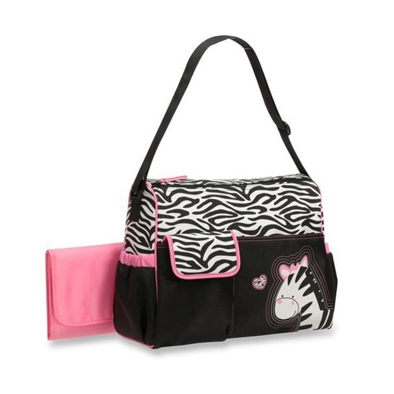Cute Zebra Fashion Multifunctional Nappy Changing Bag Mummy Bag Mother Maternity Mom for Tote Diaper Fashion Women Handbag