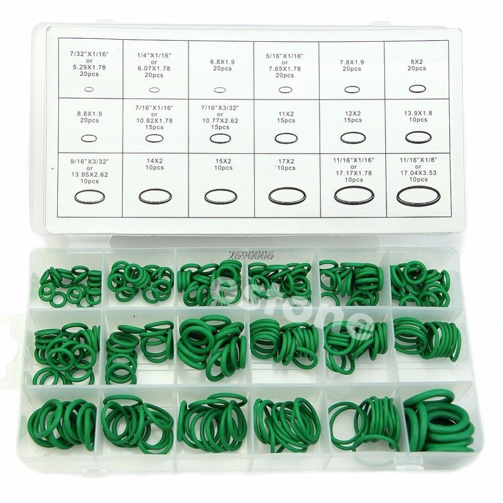 Hohe Qualität Gummi 270Pcs 18 Größen O-ring Kit Grün Metric O ring Dichtungen Nitril