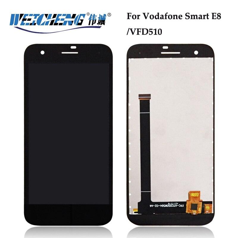 WEICHENG Für Vodafone Smart E8 LCD Display + Touch Screen für VFD510 LCD VFD 510 LCD Digitizer + freies werkzeuge
