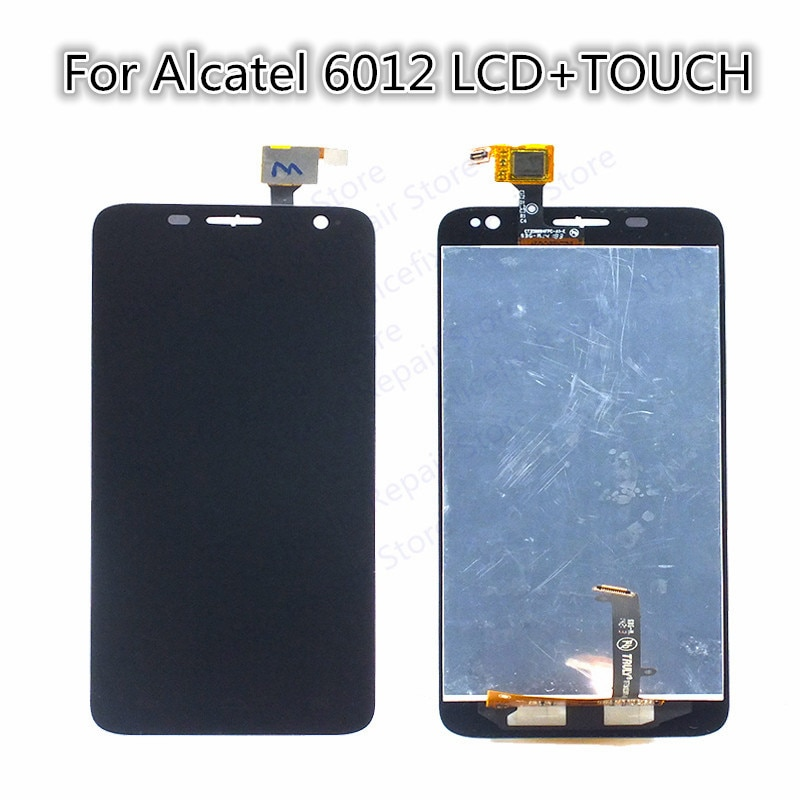 Pantalla LCD de pantalla para Alcatel One Touch Idol Mini 6012 6012D 6012E 6012A 6012X 6012W piezas de repuesto de teléfono móvil negro