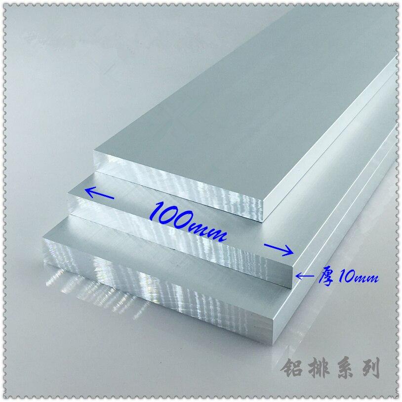 Placa de aleación de aluminio 10mm x 100mm artículo aluminio 6063-T5 ancho de oxidación 100mm espesor 10mm longitud 300mm 1 Uds