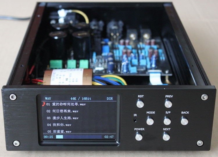 220 V/110 V STM32F407ZET6 AK4495SEQ DAC decodificador SD lossless digital giradiscos soporte DSD 64GB de memoria con salida equilibrada