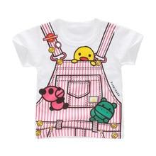 Kids T Shirt 2019 Summer New Short Sleeve Cartoon T-shirts For Girls Tops Cotton Todddler Boys Tee Baby T-shirt 2-6 Years