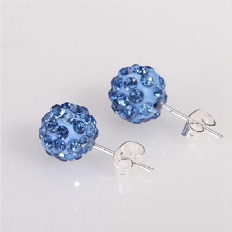 19 cor 10mm strass brincos micro disco bola de cristal parafuso prisioneiro brinco para a moda feminina jewelr