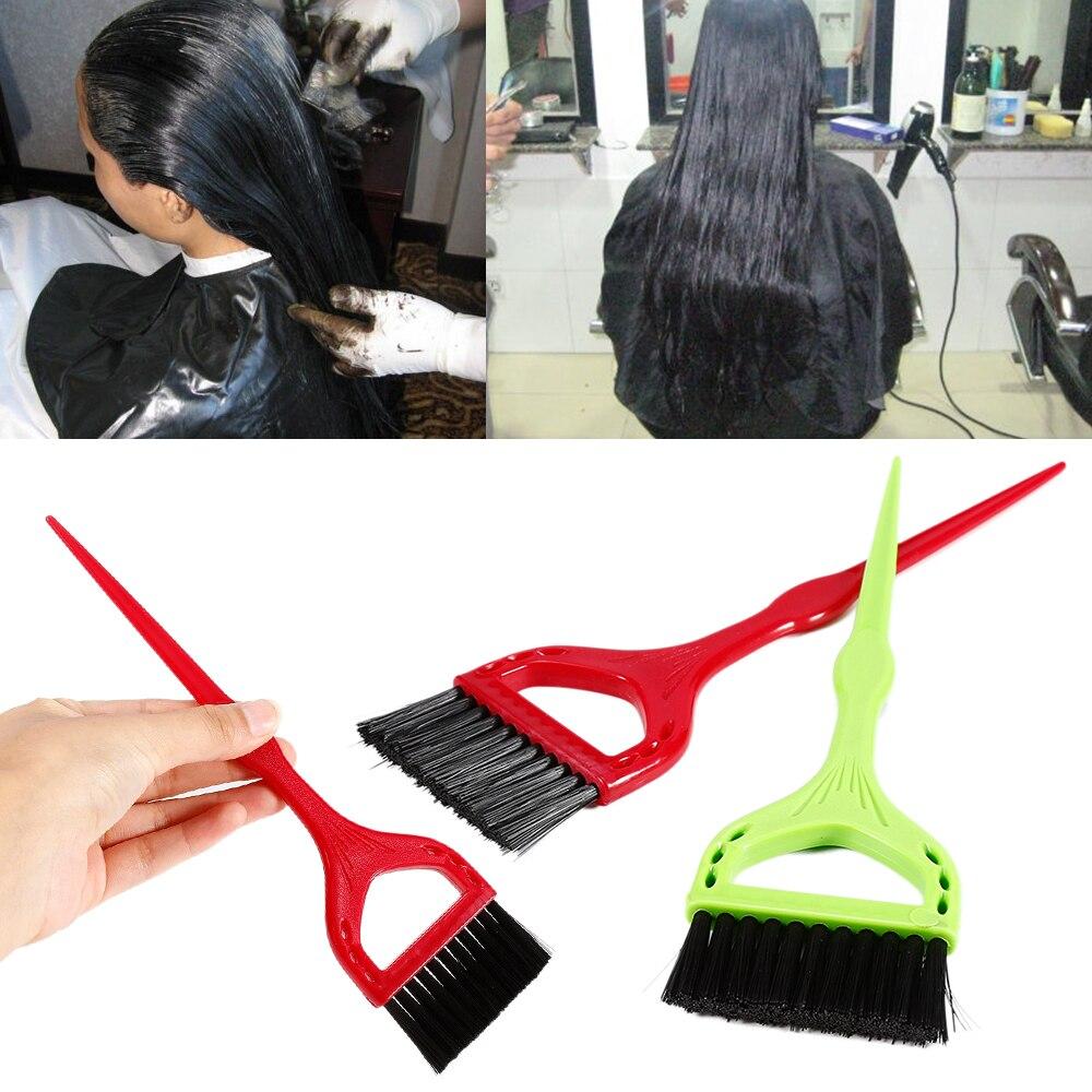2019 1 Uds de alta calidad pelo tintado cepillos de tinte de salón para el cabello tinte color cepillo de estilismo DIY herramientas