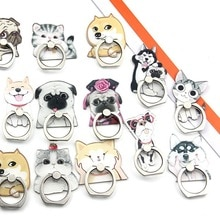 2019 New Cartoon Cute Super Cute Husky Dog Persian Cat Acrylic Mobile Phone Ring Bracket For IPhone6s 7 8p X XR XS Max
