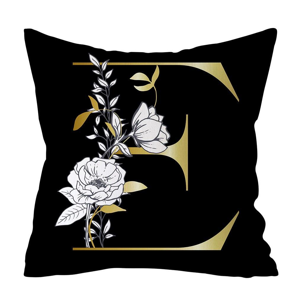 Gajjar, letra original, patrón Floral de poliéster, almohada, funda de cojín, alfombrilla para salón, hogar, sofá, funda de almohada decorativa