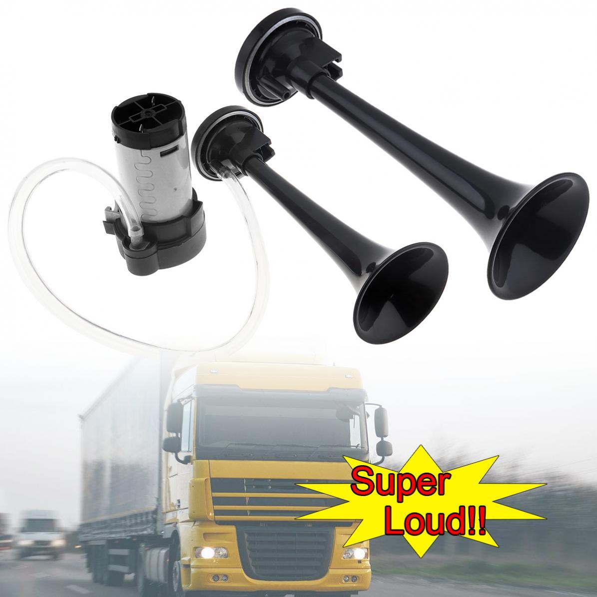 Bocina de aire de coche de 12V 178DB súper fuerte y doble Universal, bocina de aire controlada electrónicamente con compresor para coches/camiones/barcos