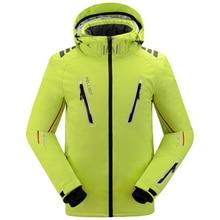 Homens Jaqueta de Esqui Pelliot Calor Térmico Nevando Jaqueta Jaqueta de Snowboard Respirável Plus Size Sports Para Camping Frete Grátis